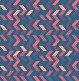 Multicolor zigzag seamless pattern. Modern Colour trends. Stock Images
