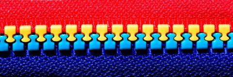 multicolor zipper Royaltyfria Bilder