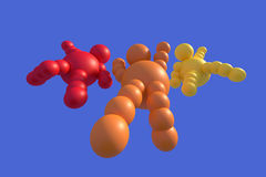 multicolore astratto 3D Fotografia Stock Libera da Diritti