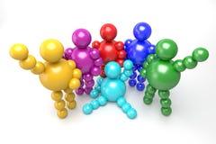 multicolore astratto 3D Immagini Stock Libere da Diritti