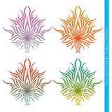 Multicolore astratto della cannabis Immagine Stock