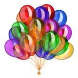 Multicolore coloré de décoration de partie de groupe de ballons d'hélium illustration stock