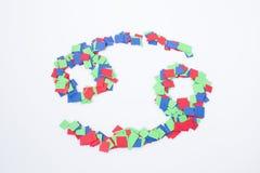 Multicolore del cancro di simbolo dello zodiaco isolato in un fondo bianco immagine stock