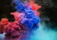 Multicolore del fondo astratto dell'inchiostro immagine stock libera da diritti