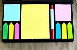 Multicolore delle note di Post-it Fotografia Stock