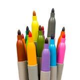 Multicolore doux-inclinez le crayon lecteur. Images libres de droits