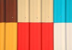 Multicolore galvanisez le modèle de mur images libres de droits
