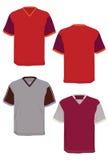 Multicolore moderno del collare-v della camicia. Immagini Stock