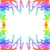 Multicolore sur le fond vert de blanc de couverture de feuilles illustration libre de droits