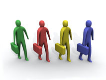 Multicolored 3d people. Royalty Free Stock Photos