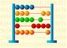 Multicolored abacus. Detail of small colored abacus Stock Images