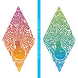 Multicolored Abstract Alchemical Bottle Royalty Free Stock Image