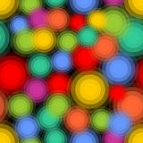 Multicolored abstract background with circle patterns in vibrant colors on black aarea, seamless abstract background, eps10  Stock Images