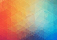 Multicolored Abstract background with gradient triangle shapes Stock Images