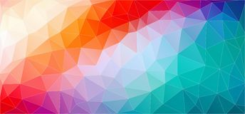 Multicolored Abstract background with gradient triangle shapes. Abstract background with gradient triangle shapes for your design stock illustration