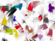 Multicolored abstract background. With oil painted effect Stock Photo