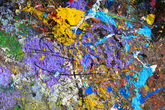 Multicolored abstract background of paint Stock Photography