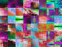 Multicolored abstract background with square geometric shapes. Stock Photo