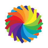 Multicolored abstract circle icon, cartoon style Royalty Free Stock Images