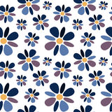 Multicolored abstract daisy flowers seamless pattern background illustration Royalty Free Stock Photography