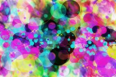 Multicolored abstract defocused and bokeh pattern background. Blurred wallpaper vector illustration