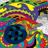 Multicolored abstract drawing on any subject. / Royalty Free Stock Images