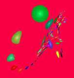 Multicolored abstract figures. In 3D computer generated Royalty Free Stock Photography