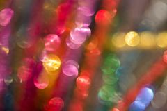 Multicolored abstract lights background. With bokeh Royalty Free Stock Images