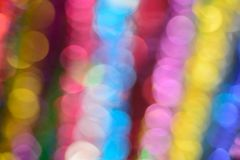 Multicolored abstract lights background. With bokeh Stock Photo