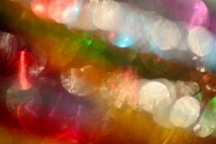 Multicolored abstract lights background. With bokeh Royalty Free Stock Photography