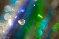 Multicolored abstract lights background. With bokeh Stock Image