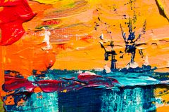 Multicolored Abstract Painting Stock Photo