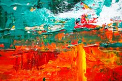 Multicolored Abstract Painting Royalty Free Stock Image