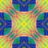 Multicolored abstract patroon in de stijl van het gebrandschilderd glasvenster u stock afbeeldingen