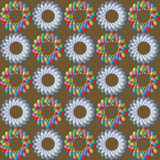 Multicolored abstract pattern on brown background Royalty Free Stock Photo