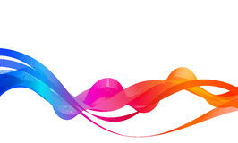 Multicolored Abstract Wave Background Royalty Free Stock Images