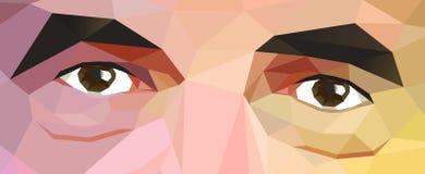 Multicolored abstracte achtergrond met ogen royalty-vrije illustratie