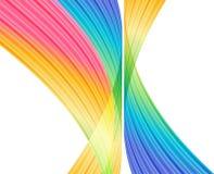 Multicolored abstracte achtergrond, regenboog gestreepte krommen op witte achtergrond Royalty-vrije Stock Foto's