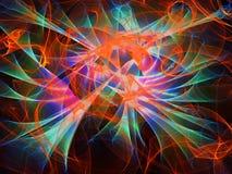 Multicolored abstracte achtergrond, textuur met golven, digitale illustratie royalty-vrije stock fotografie