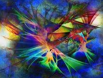 Multicolored abstracte achtergrond, textuur met golven, digitale illustratie royalty-vrije stock foto's