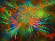 Multicolored abstracte achtergrond, textuur met golven, digitale illustratie royalty-vrije stock afbeelding