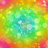 Multicolored abstracte bokehachtergrond Royalty-vrije Stock Fotografie
