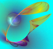 Multicolored abstracte cijfers Stock Afbeeldingen