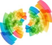Multicolored abstracte geometrische cirkel royalty-vrije illustratie