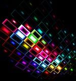 Multicolored abstracte ontwerpnadruk neer Stock Afbeelding