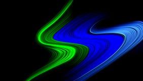 Multicolored abstracte vector stelde golvend behang in de schaduw als achtergrond levendige kleuren vectorillustratie Royalty-vrije Stock Foto