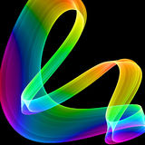 Multicolored abstraction. Over black background, hq rendered image Stock Photography