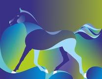 Multicolored achtergrond met paard royalty-vrije illustratie