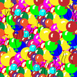 Multicolored air balloons. A lot. Multicolored air balloons. Greeting card Stock Photography