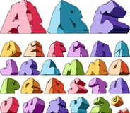 Multicolored alphabet Stock Photos